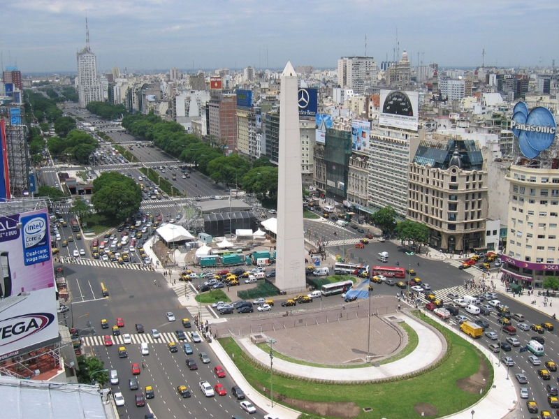 9 de Julio Avenue and the Obelisk- Buenos Aires, Argentina